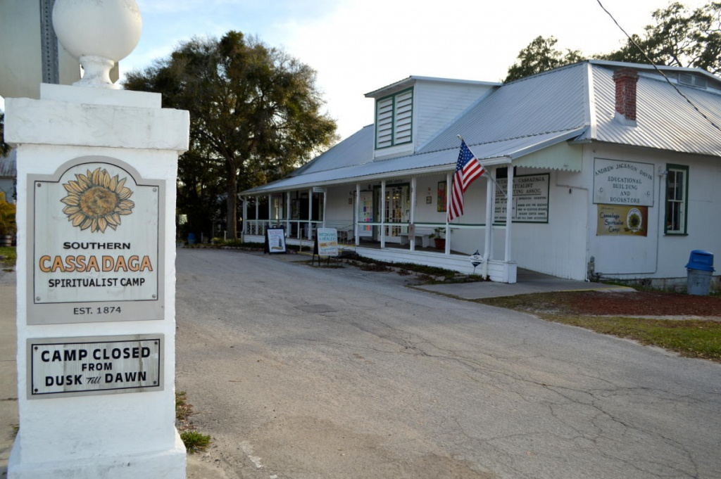 Cassadaga Spiritualist Camp   Cassadaga, Fl 32706 - Cassadaga Florida Map