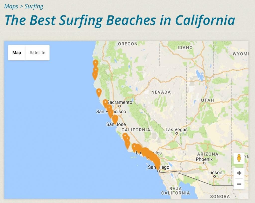 Cassurf | The Best Surfing Beaches In California | #cassurf Tees + - California Surf Map