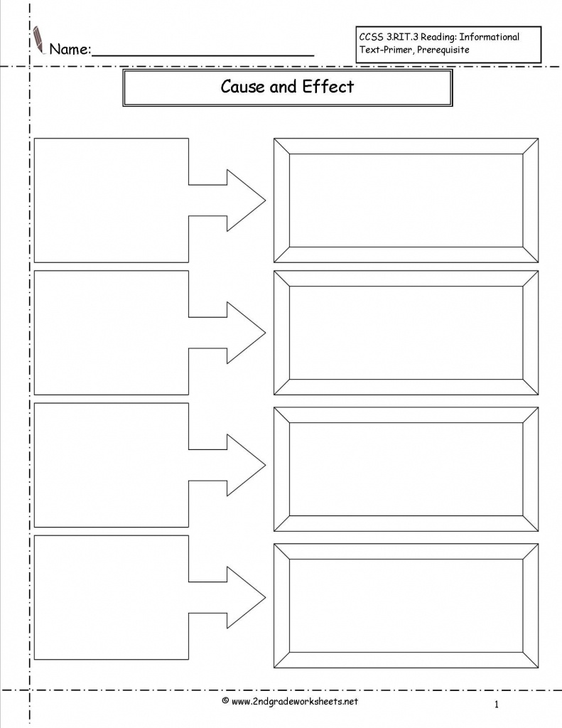 Cause And Effect Worksheet - Google Search | Reading | Mapas - Flow Map Printable