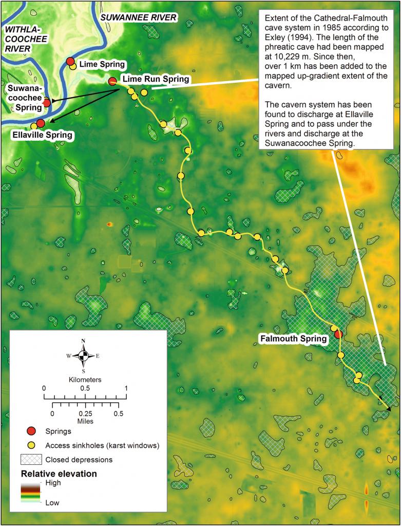 Caves And Sinkholes In Florida   Springerlink - Sinkhole Map Hernando County Florida