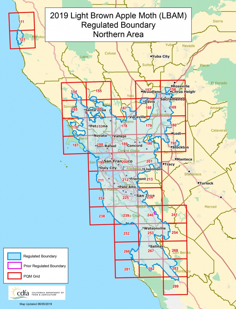 Cdfa - Plant Health - Light Brown Apple Moth (Lbam) - California 511 Map