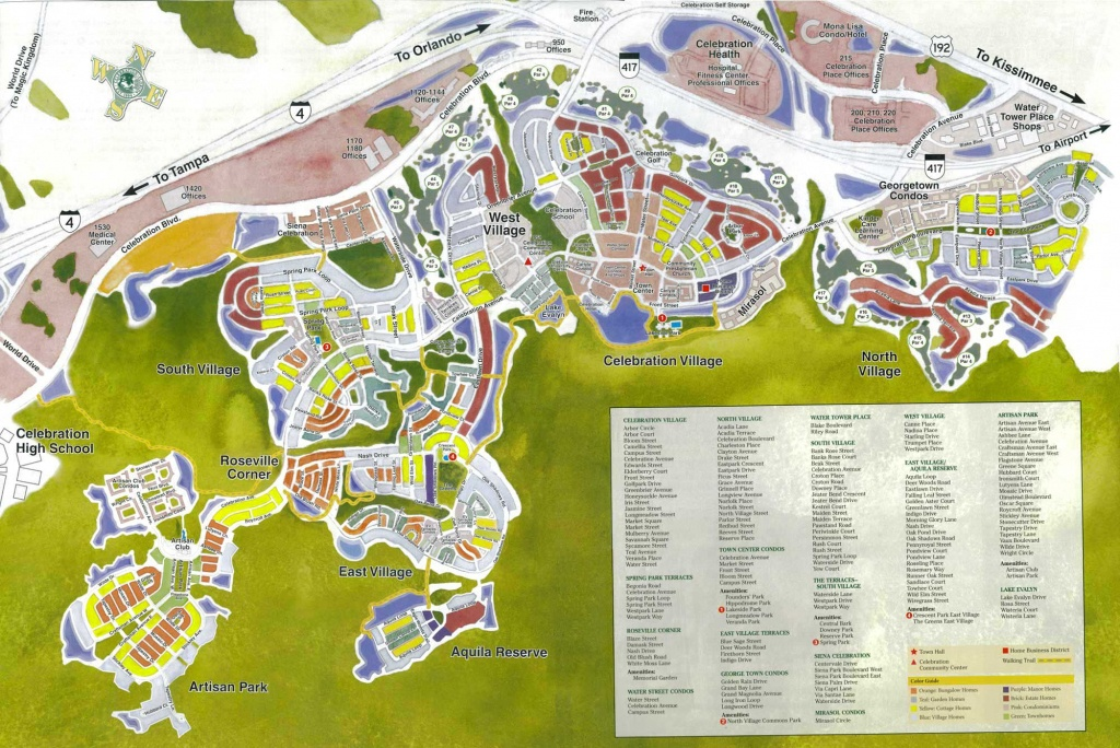 Celebration Florida Map | Celebration Florida In 2019 | Celebration - Celebration Florida Map