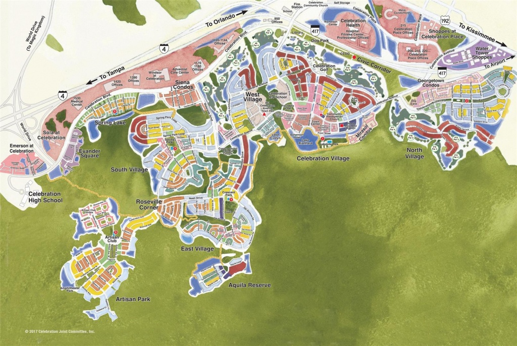 Celebration, Florida Real Estate: Search All The Greater Orlando - Celebration Florida Map