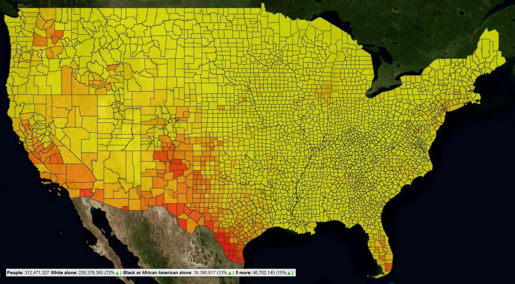 Censusviewer – Screenshots And Example Images - Texas Population Heat Map