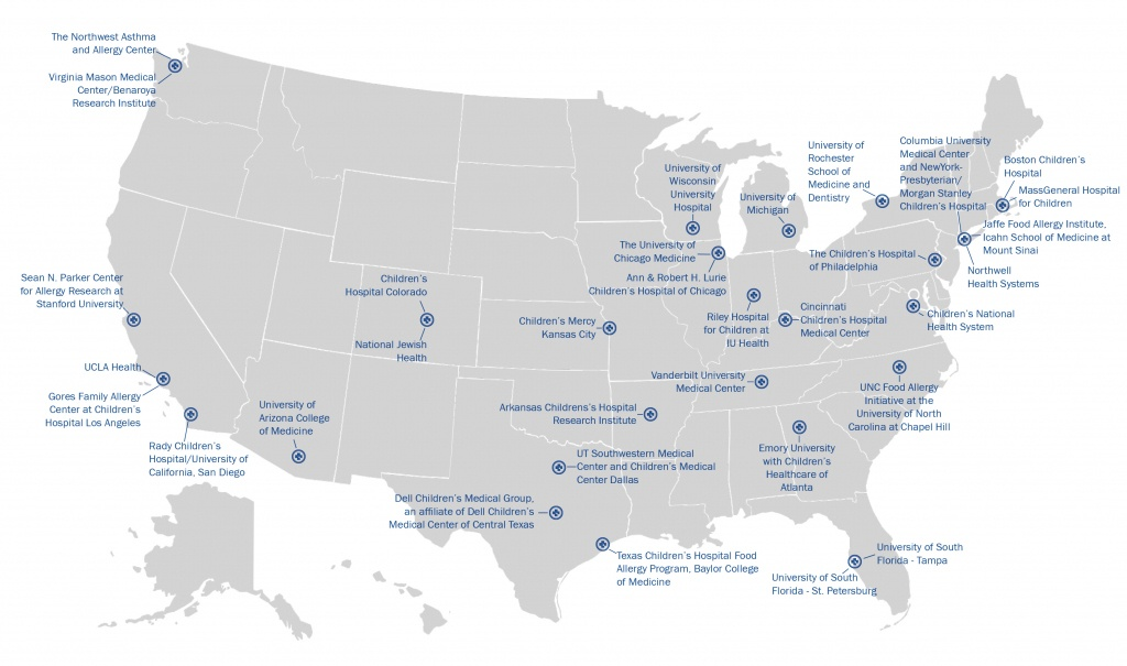 Centers Of Excellence | Food Allergy Research & Education - Allergy Map Texas
