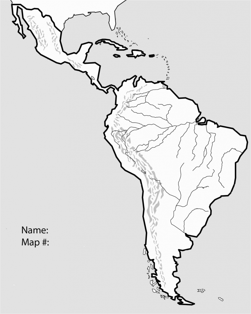 Central American Physical Map Printable South America With Key Best - South America Physical Map Printable
