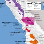Central Coast Wine: The Varieties And Regions | Wine Folly   California Wine Ava Map