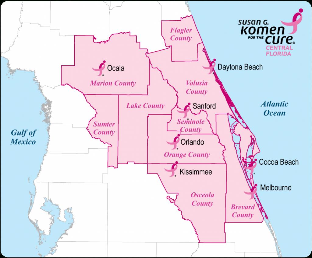 Central Florida County Map | Central Florida Affiliate Service Area - Central Florida County Map