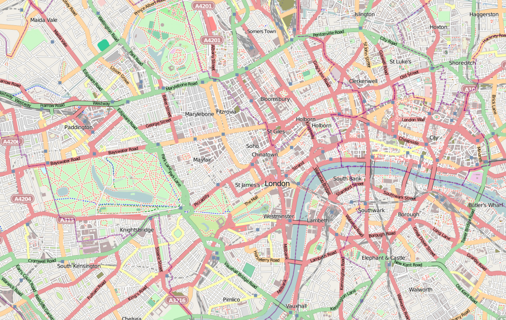 Central London - Wikipedia - Printable Street Map Of Central London