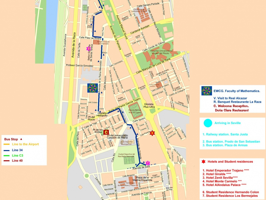 Central Seville Tourist Map - Seville • Mappery - Seville Tourist Map Printable