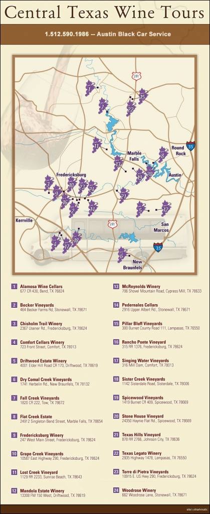 Central Texas Wine Trail …   Wine   Centr… - Fredericksburg Texas Winery Map
