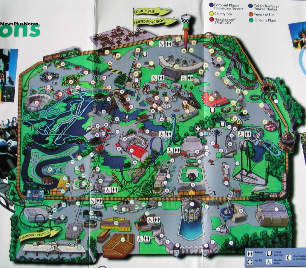 Cga97Map California S Great America Map 2 - World Wide Maps - California's Great America Map
