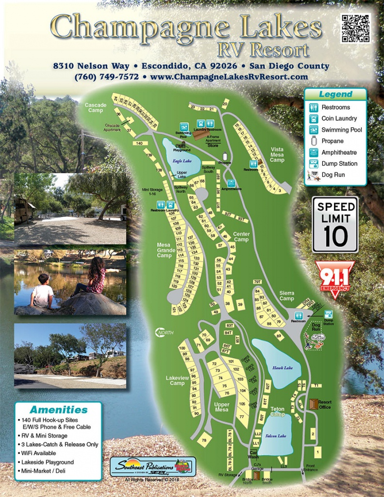 Champagne Lakes Rv Resort - Resort Map - California Rv Resorts Map