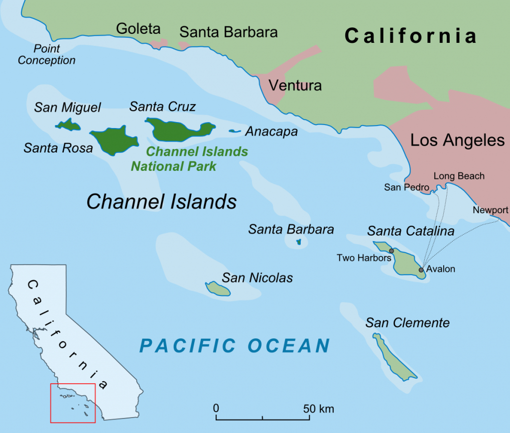 Channel Islands (California) - Wikipedia - Map Of Islands Off The Coast Of Florida