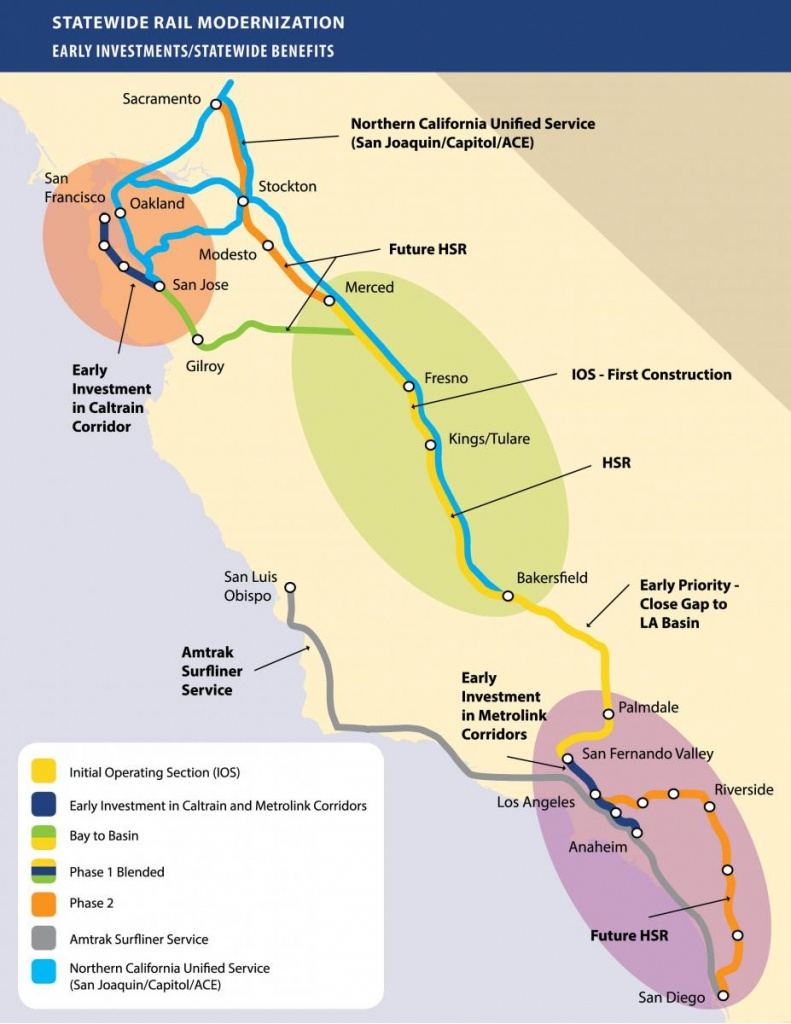 Chapter's Stance On California's High-Speed Rail Project | Sierra - California Bullet Train Map