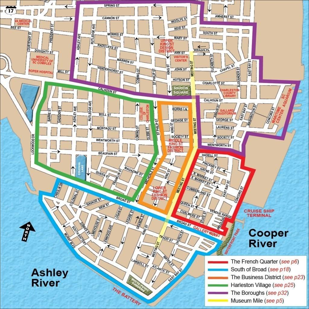 Charleston Honeymoon Itinerary   Travel   Visit Charleston Sc - Printable Map Of Charleston Sc Historic District