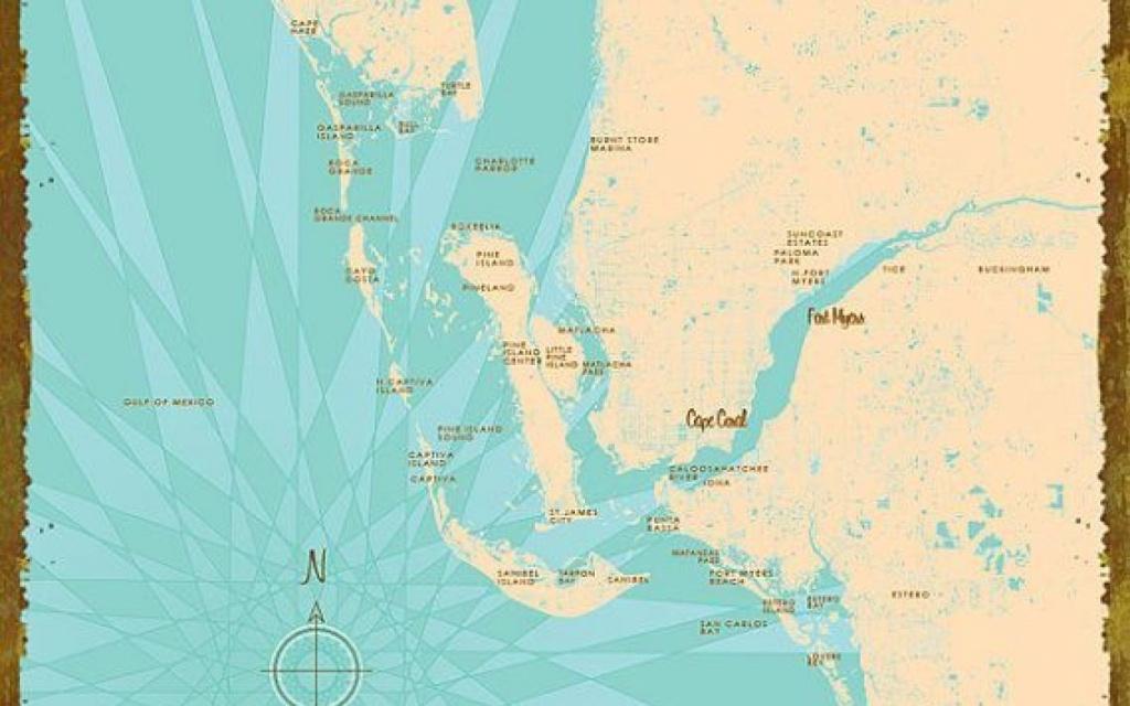 Charlotte Harbor, Fl Map Canvas Print Lakebound Maps Pinterest | Hot - Charlotte Harbor Florida Map
