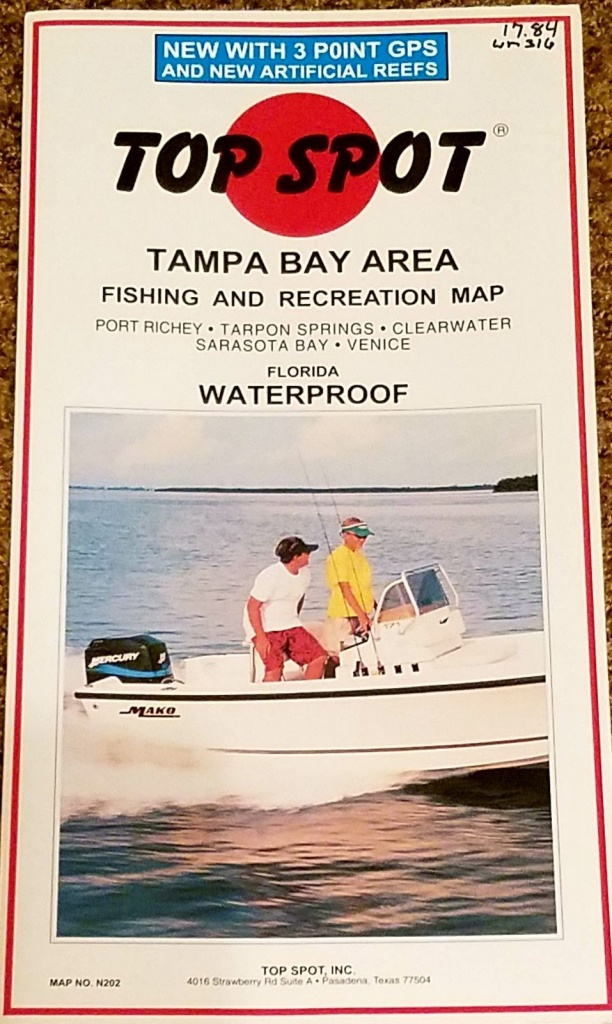 Charts And Maps 179987: Top Spot Map N202 Tampa Bay Area Fishing And - Top Spot Maps Texas