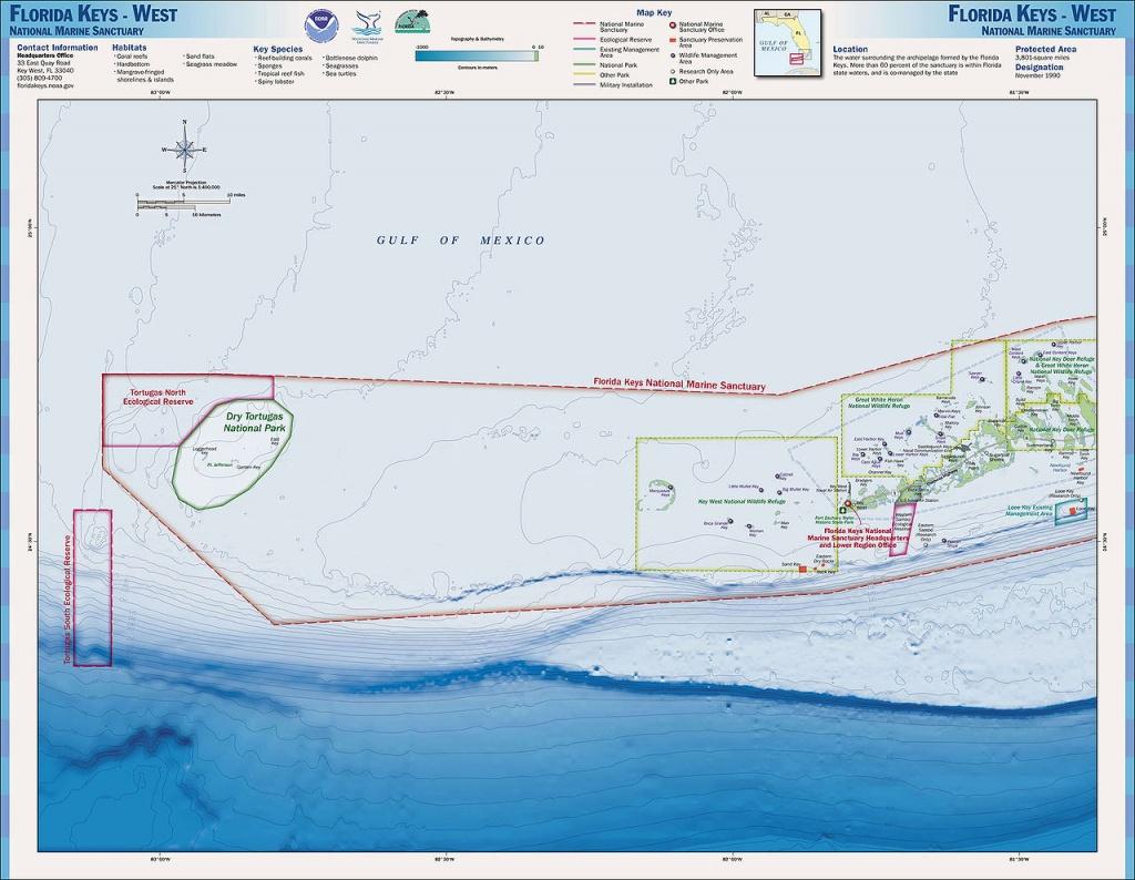 Charts And Maps Florida Keys - Florida Go Fishing - Los Cayos Florida Map