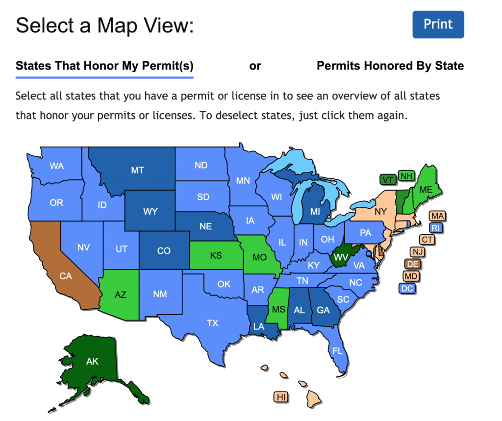 Check Out The New Concealed Carry Maps - Usa Carry - Florida Concealed Carry Map