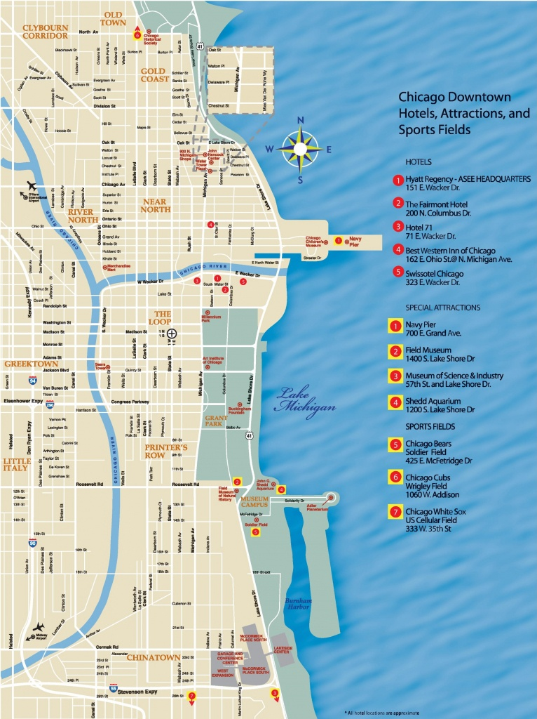 Chicago Downtown Map - Printable Map Of Downtown Chicago