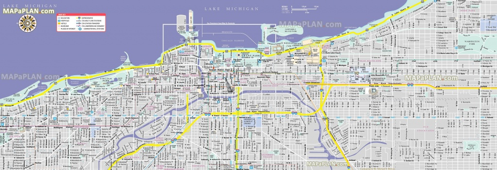 Chicago Maps - Top Tourist Attractions - Free, Printable City Street Map - Printable Map Of Chicago Suburbs