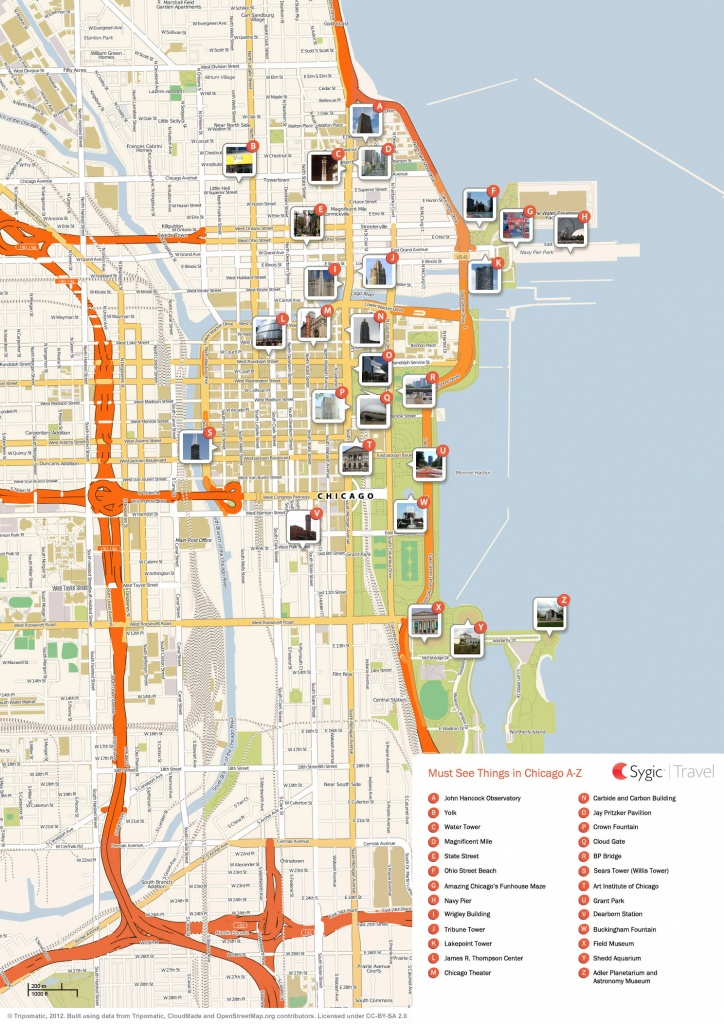 Chicago Printable Tourist Map | Sygic Travel - Printable Map Of Downtown Chicago