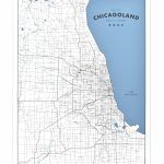 "Chicagoland   A Map Of Chicago And Its Suburbs 18"" X 24"" Screen Print   Printable Map Of Chicago Suburbs"
