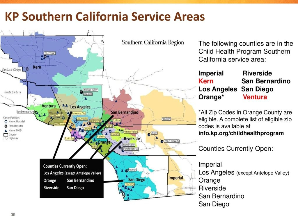 Child Health Program Training Open Enrollment Ppt Download - Kaiser Permanente Northern California Service Area Map