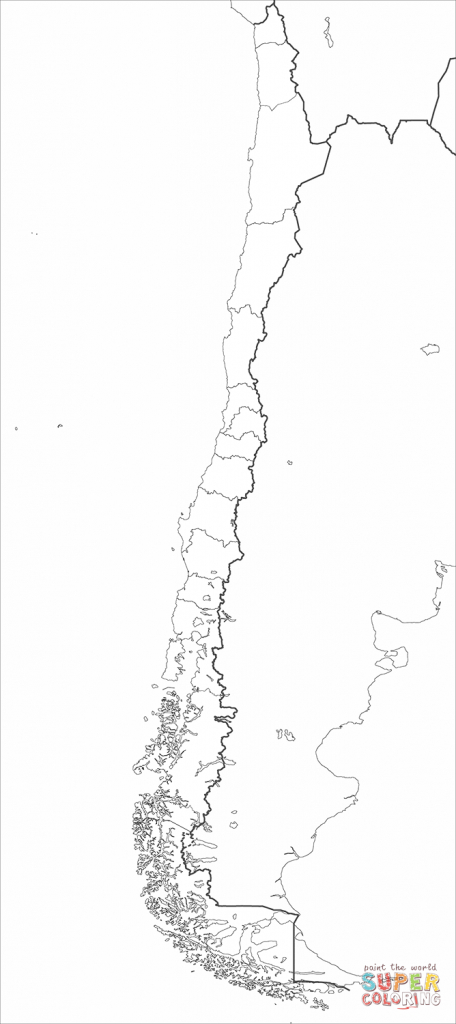 Chile Map Coloring Page | Free Printable Coloring Pages - Printable Map Of Chile