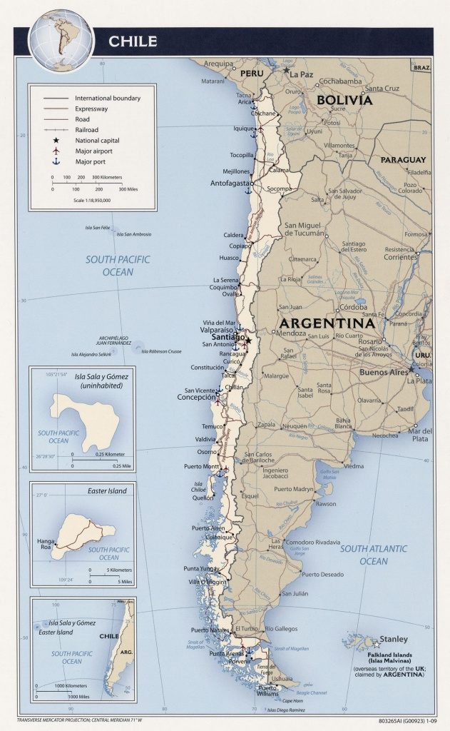 Chile Maps - Perry-Castañeda Map Collection - Ut Library Online - Printable Map Of Chile