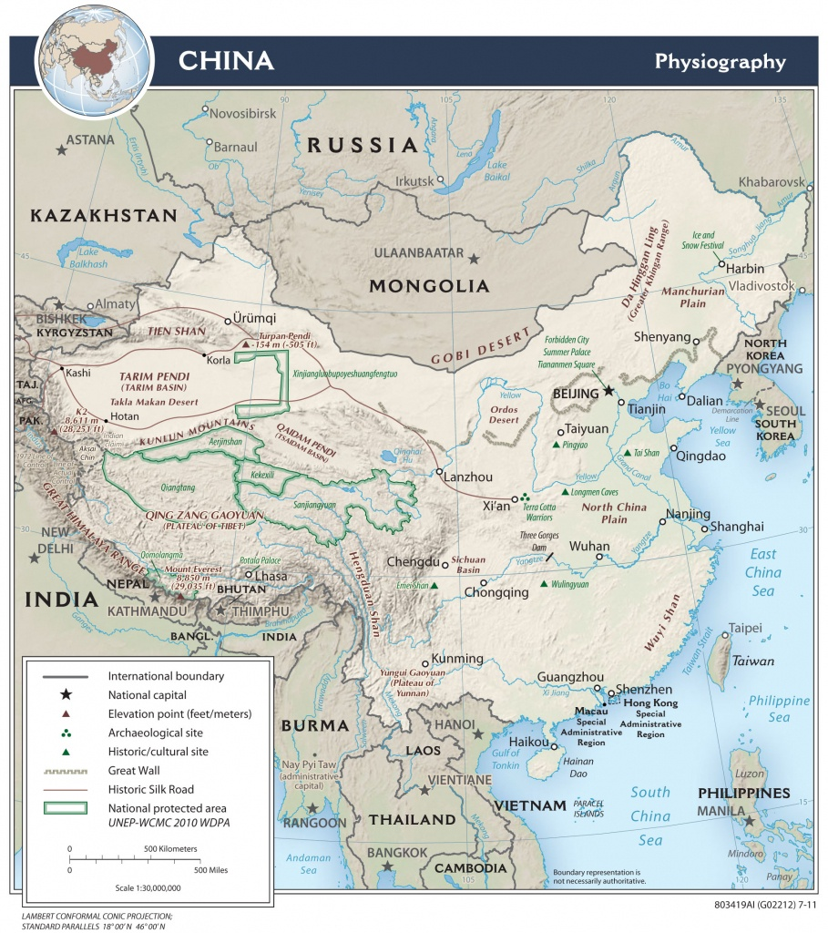 China — Central Intelligence Agency - Printable Map Of China For Kids