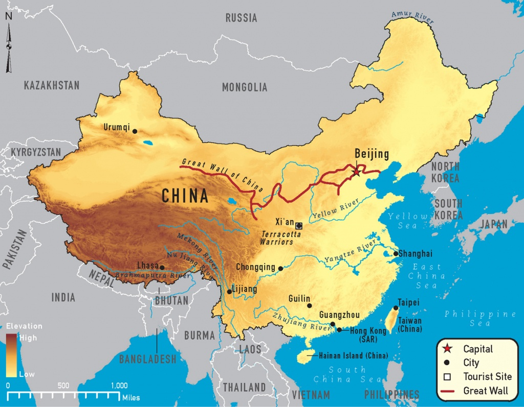 China Rivers Map 2019, Important Rivers In China - Printable Map Of China For Kids