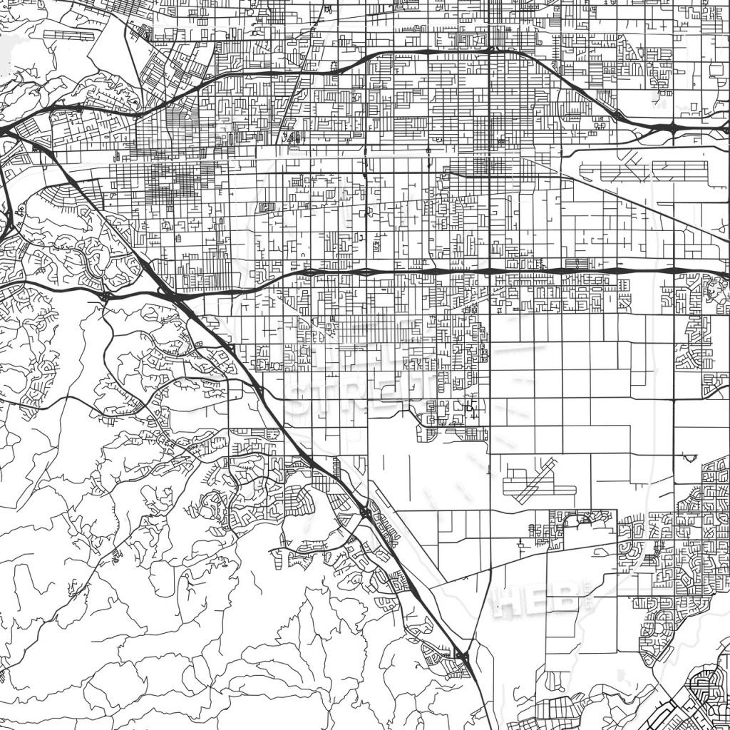 Chino, California - Area Map - Light - Chino California Map