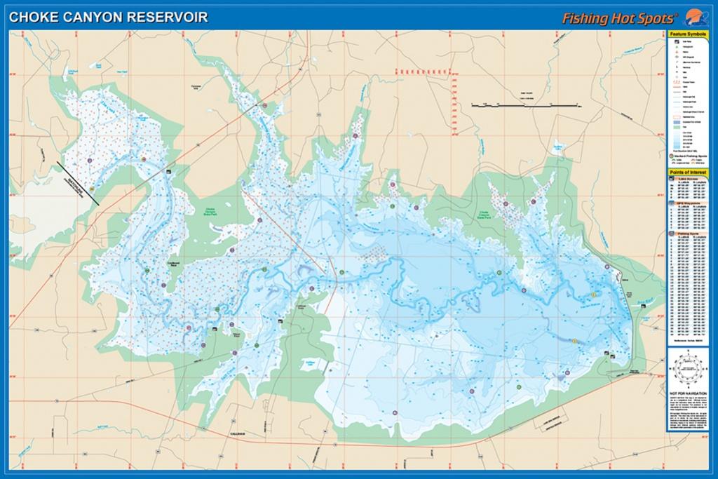 Choke Canyon Reservoir Fishing Map - Texas Fishing Maps