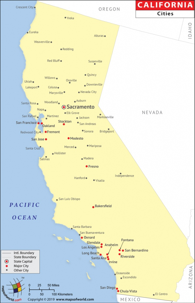 Cities In California, California Cities Map - Picture Of California Map