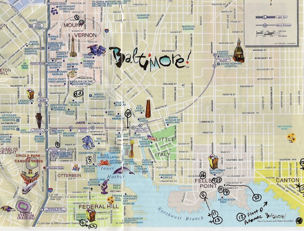 City Map Of Baltimore | City Maps - Printable Map Of Baltimore