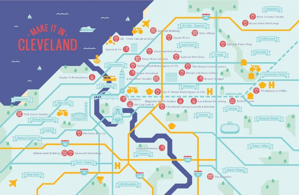 City Of Cleveland Economic Development - Maker Map - Printable Map Maker