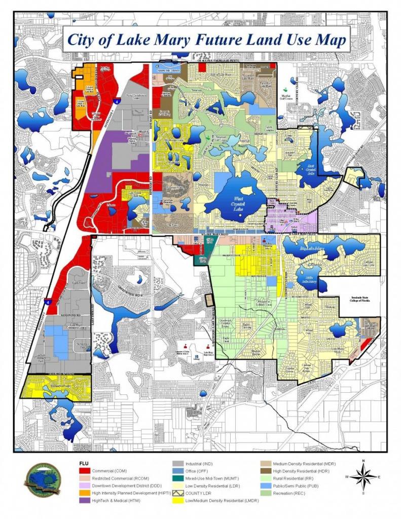 City Of Lake Mary Future Land Use Map | Lake Mary, Fl - Map Of Lake Mary Florida And Surrounding Areas