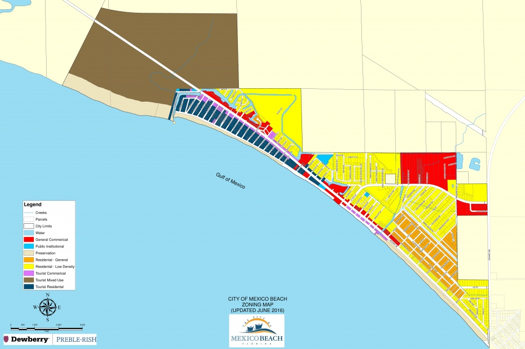 City-Of-Mexico-Beach-Zoning-Map | 98 Real Estate Group - Mexico Beach Florida Map