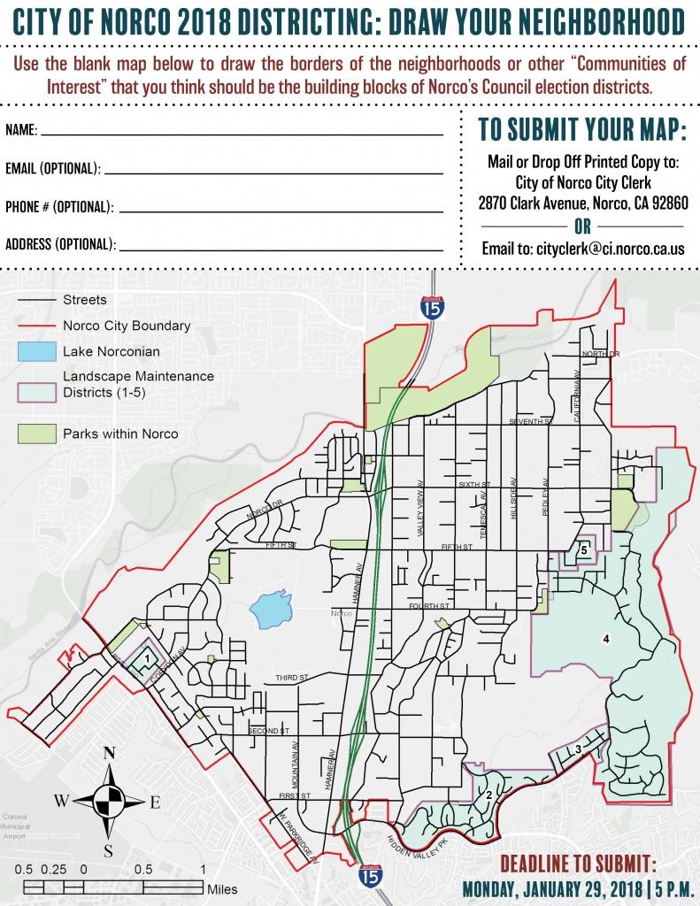 City Of Norco Website - Community Handouts - Norco California Map