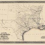 Civil War Map   Texas, Louisiana, & Arkansas 1871   Civil War In Texas Map