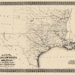 Civil War Map   Texas, Louisiana, & Arkansas 1871   Map Of Texas And Arkansas