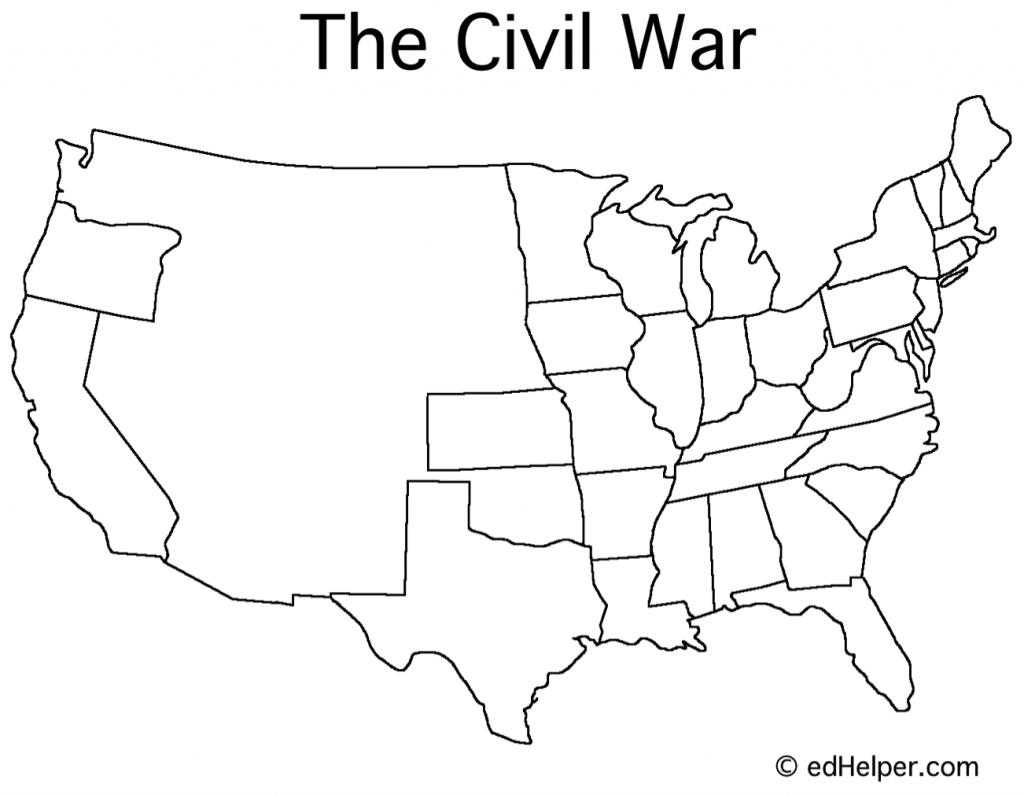 Civil War Timeline - Google Search   Social Studies   Map Worksheets - Printable Civil War Map