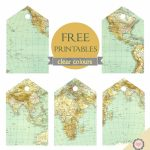Clear Colours: Free Map Tags Printables … | Crafts | Trave…   Free Printable Travel Maps