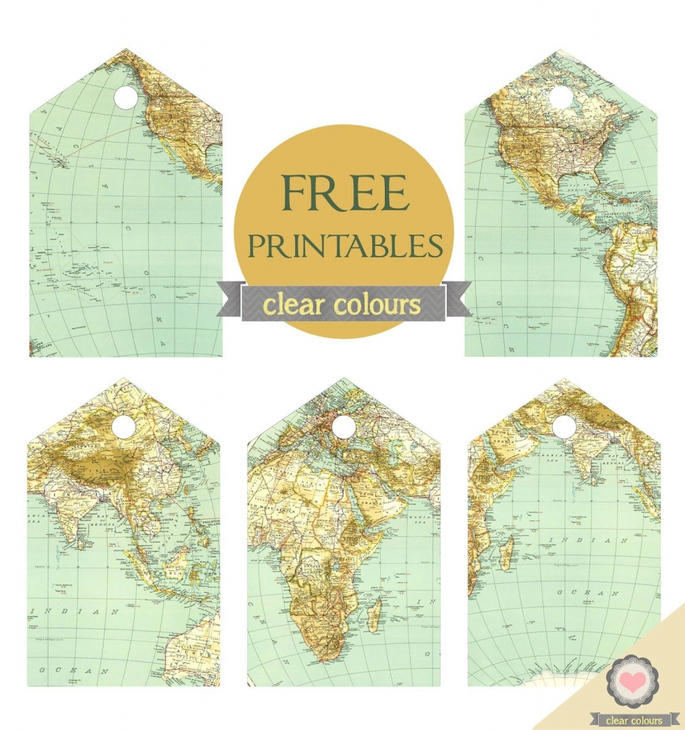 Clear Colours: Free Map Tags Printables … | Crafts | Trave… - Free Printable Travel Maps