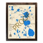 Clermont Chain Of Lakes, Fl Wood Map | 3D Topographic Wood Chart   Florida Lakes Map