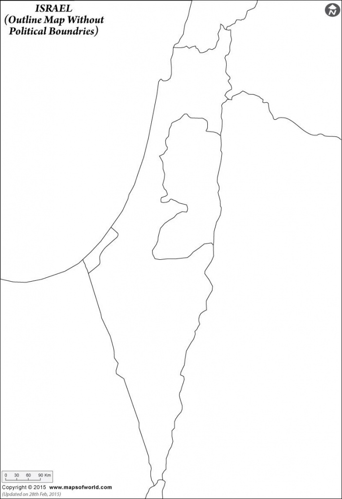 Click To View And Print The #israel #blank #map With Or Without - Israel Outline Map Printable