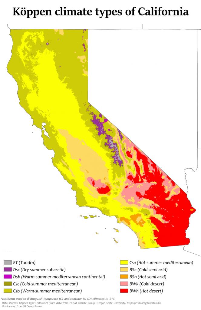 Climate Of California - Wikipedia - California Heat Map
