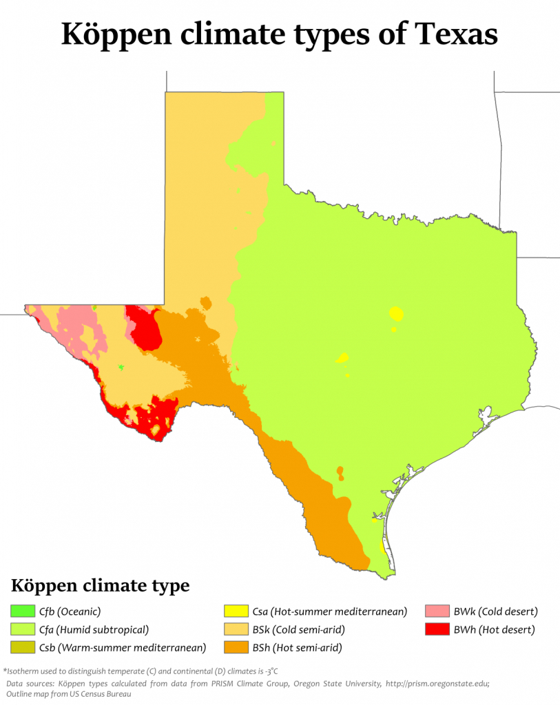 Climate Of Texas - Wikipedia - Texas Heat Map